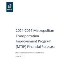 2024-2027 MTIP Revenue Forecast