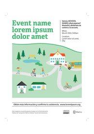 SRTS Event Flyer Template (Spanish)