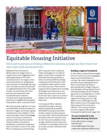 Equitable Housing Initiative factsheet