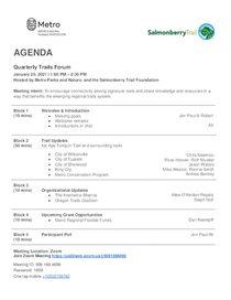 Meeting agenda Jan. 20, 2021