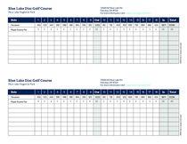 Disc golf course 2-player scorecard