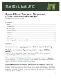 Office of Emergency Management non-health related FAQs
