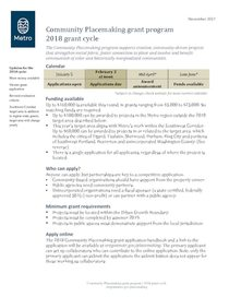 2018 grant cycle fact sheet