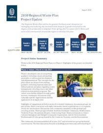 Regional Waste Plan August update