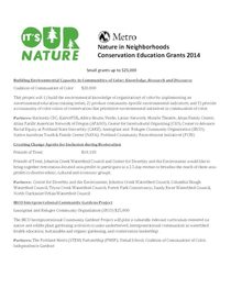 Conservation education awards 2014