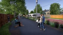Rail to trail and transit rendering