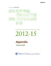 2012-15 Metropolitan Transportation Improvement Program appendix