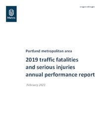2015-19 Traffic fatalities and serious injuries annual performance report