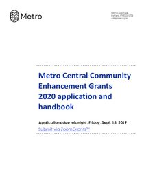 2020 Metro Central Community Enhancement Handbook v2