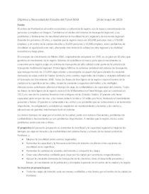 Objetivo y Necesidad del Estudio del Túnel MAX