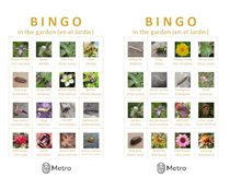 Garden bingo cards O and P