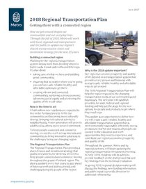 Fact sheet: Getting there with a connected region