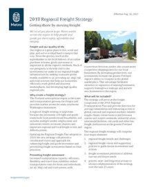Freight fact sheet: 2018 Regional Freight Strategy