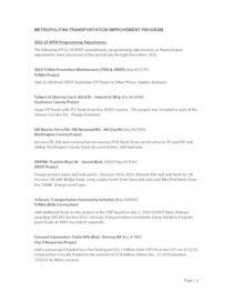 2012-15 Metropolitan Transportation Improvement Program amendments