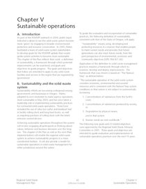 Chapter V, Sustainable Operations