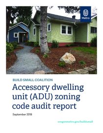 Accessory dwelling unit zoning code audit report, 2018