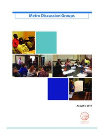 Summer 2015 discussion groups report
