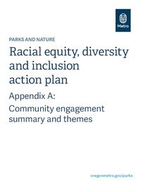 Parks and nature racial equity action plan Appendix A