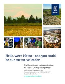 Chief Operating Officer job announcement