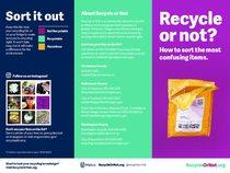 Reciclar o no folleto – versión en inglés