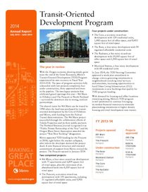 Transit-Oriented Development Program 2014 annual report