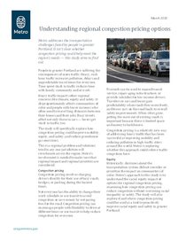 Congestion pricing fact sheet