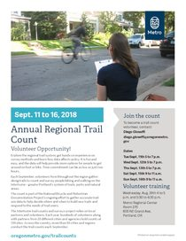 2018 Trail Count Volunteer Opportunity Flyer