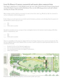 Lone Fir Cemetery memorial and master plan comment form