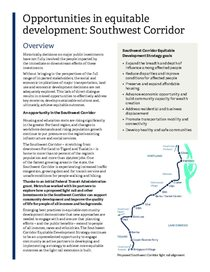 Southwest Corridor Equitable Development Strategy overview