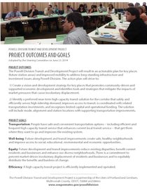 Project outcomes and goals for June 23, 2014