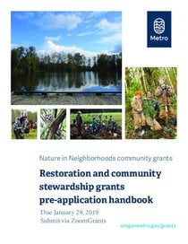 2019 Pre-application handbook: restoration and community stewardship grants