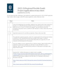 2022-24 Regional Flexible Funds project application errata sheet