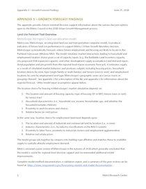 Appendix 3: MetroScope Scenarios