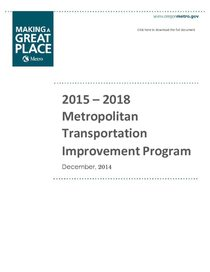 2015-18 Metropolitan Transportation Improvement Program