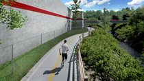 Constrained regional trail rendering