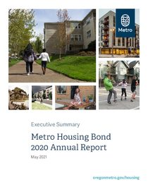 Metro affordable housing bond 2020 annual report