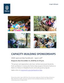 Handbook for open call capacity building sponsorships