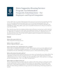 SHS tax collection information for employers and payroll companies