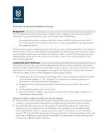 Contract and work force equity memo