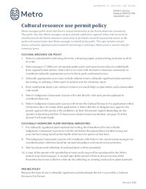 Cultural Resource Use Permit policy