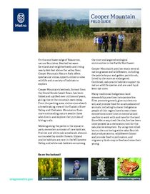 Cooper Mountain field guide