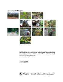 Wildlife corridors and permeability