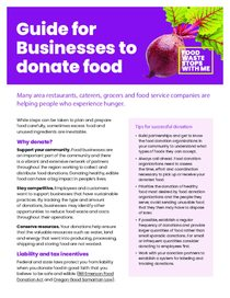 Guide for businesses to donate food