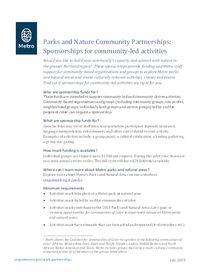 2019 Community-led programming sponsorships factsheet