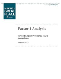 Factor one analysis for limited English proficiency audiences
