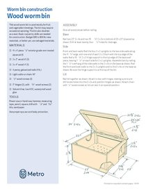 Cómo construir un contenedor para compostaje con lombrices – solo en inglés