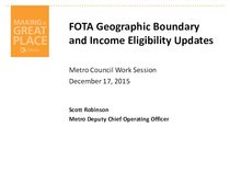 FOTA Geographic boundary and income eligibility updates