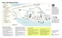 Map of Blue Lake Regional Park (Spanish)