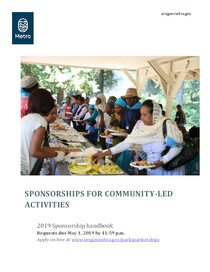 2019 Sponsorships for community-led activities handbook