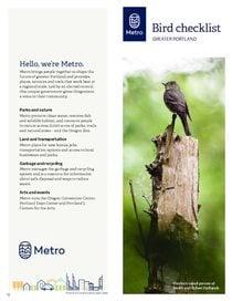 Bird checklist for print